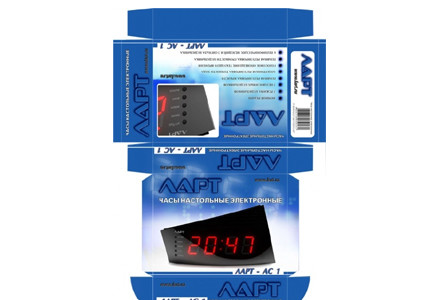 Lart Clock Packaging - photo №2 | Baren-Boym.com